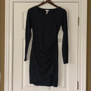 Leith navy blue ruched dress size small